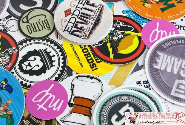 Promotion used cute individual sticker printing