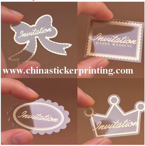Printing Clear Sticker Type logo sticker