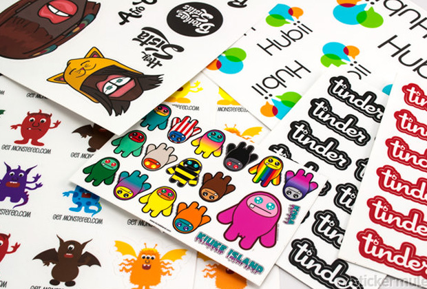 Full colors printing kiss cut labels stickers on sheet